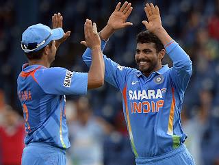 Suresh-Raina-Ravindra-Jadeja-India-vs-Srilanka-Tri-Series-2013
