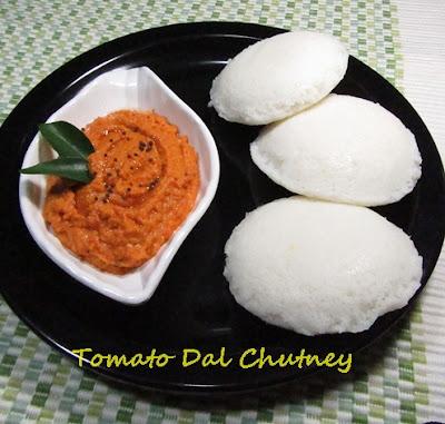 Tomato Dal Chutney / Tomato Dal Dip