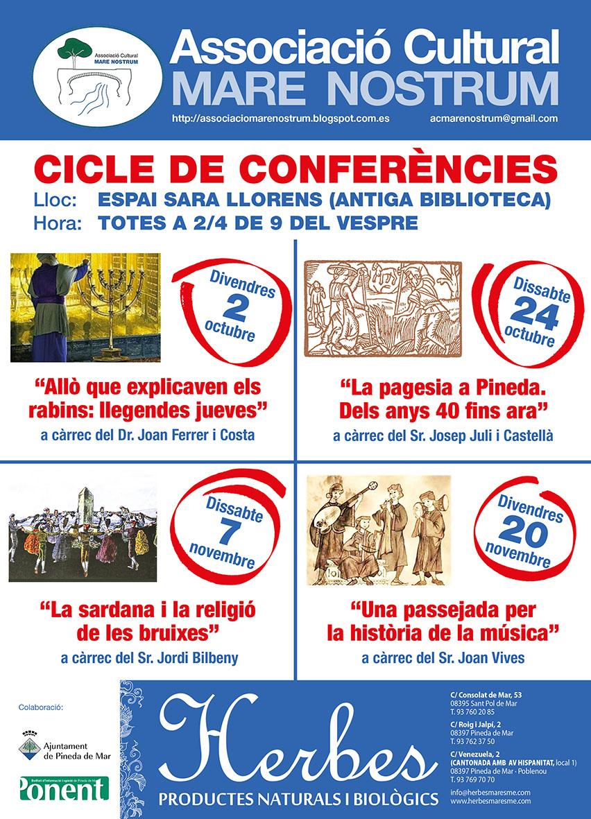 CICLE CONFERÈNCIES TARDOR 2015