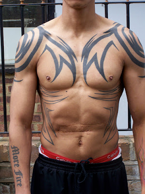 Japanese Tribal Tattoos Fonts Designs For Men 2012