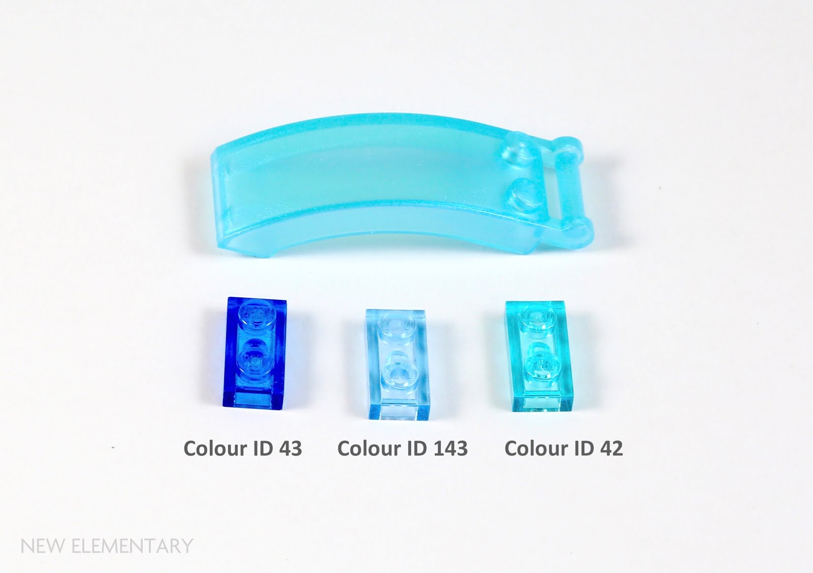 Lego Mini Figure 2 Trans Light Blue 4 point Rock Crystal NEW