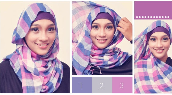 cara memakai jilbab dengan muka panjang cara memakai