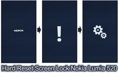 Cara Hard Reset Screen Lock Nokia Lumia 520