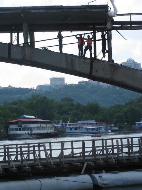 работа на мосту