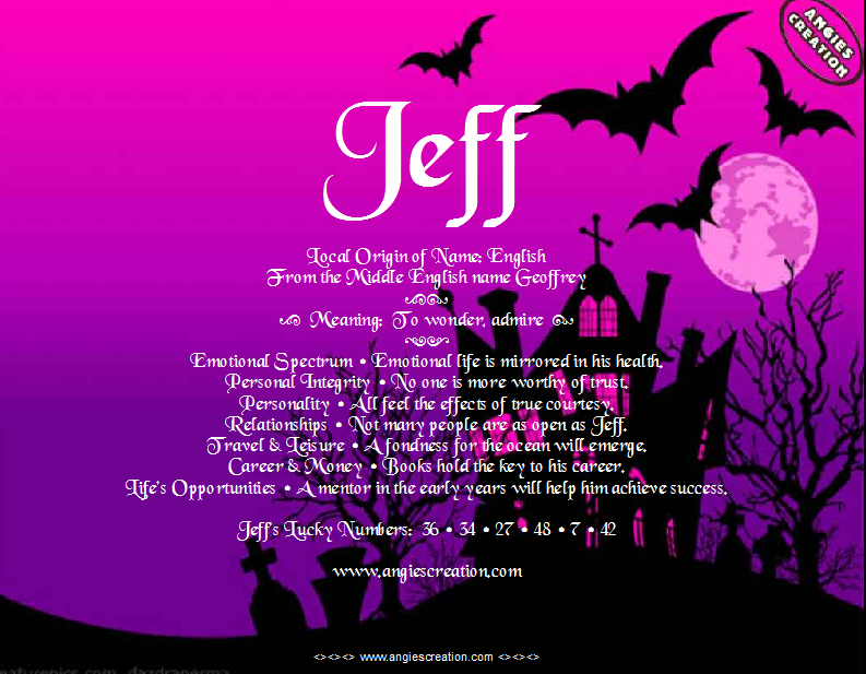 The meaning of the name - Jeff