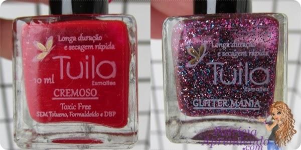 Comparação do vidrinhos Tuila