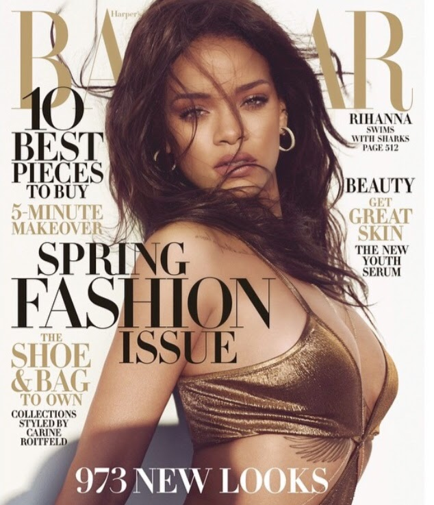 Singer, Actress, Fashion Designer: Rihanna for Harper's Bazaar US, Spring Fashion Issue