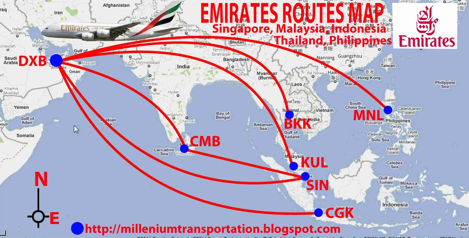 Civil aviation emirates flight routes to southeast asia emirates flight routes to southeast asia gumiabroncs Choice Image
