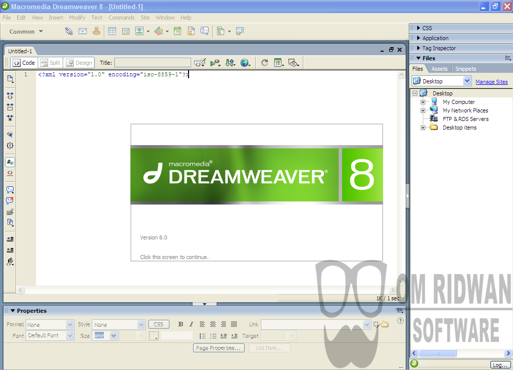 Macromedia Dreamweaver 8 + Serial Number digunakan untuk membuat ...