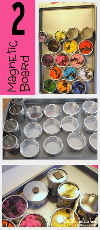11 Ways to Organize with Magnets - for crafts:: OrganizingMadeFun.com