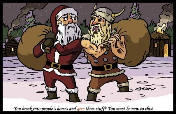 i thought this one was appropriate after all the dark ages gaming we did in 2011 from our man cave to yours we wish you a safe and merry christmas - Viking Christmas