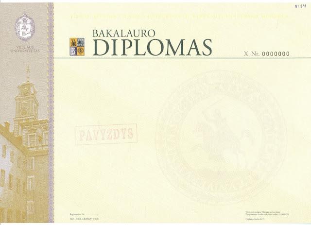 VU bakalauro diplomas