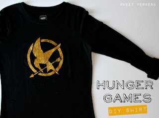 Hunger Games craft: tutorial, screenprinted, tee-shirt