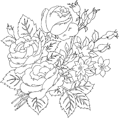 Adult Rose Coloring Pages Flowers