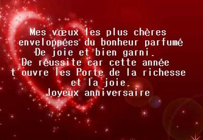 Message Et Sms Pour Anniversaire Messages D Amour 2017
