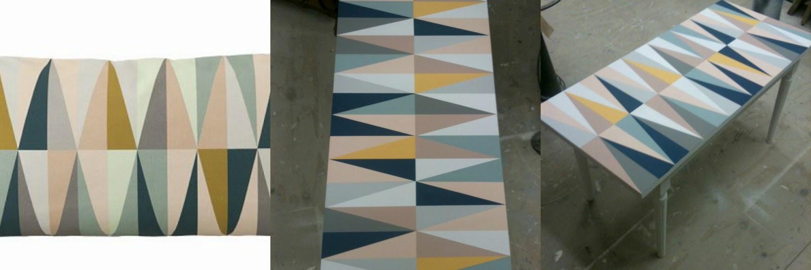 Goed in stijl: salontafel met ferm living patroon/kleuren