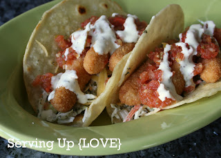 Katherine 39 s kitchen serving up tacos easy fish tacos for Fish stick tacos