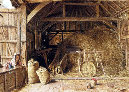William Henry Hunt The Interior Of A Barn Watercolor And Pencil 1837