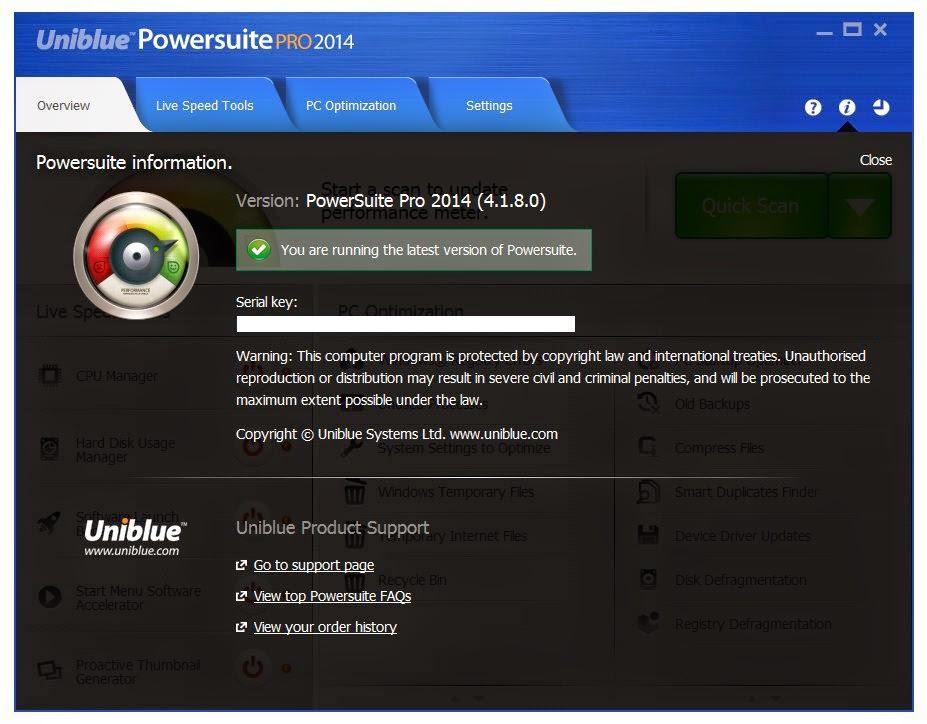 Uniblue powersuite pro 2014 Download