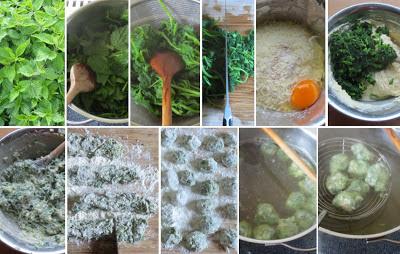 Zubereitung Brennnessel-Malfatti (Brennnessel-Ricotta-Knödel)