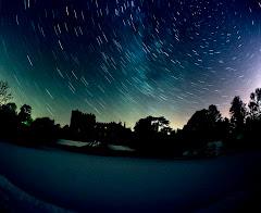 Milky Way above Sizergh Castle