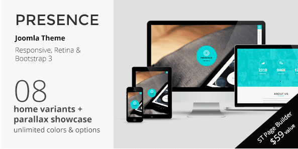 PRESENCE - Joomla One Page Parallax Template