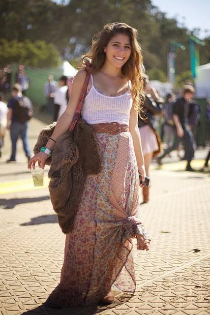 Moda - Maxissaia  com nós - tendências verão 2015 saia flores