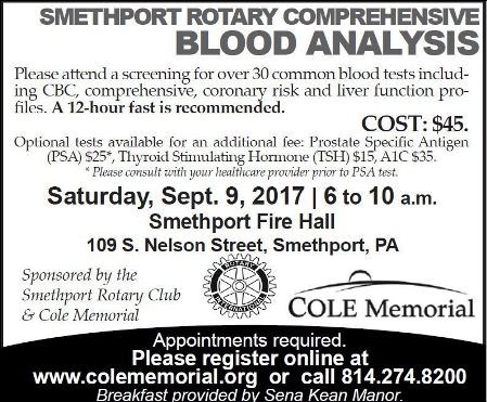 9-9 Smethport Blood Analysis