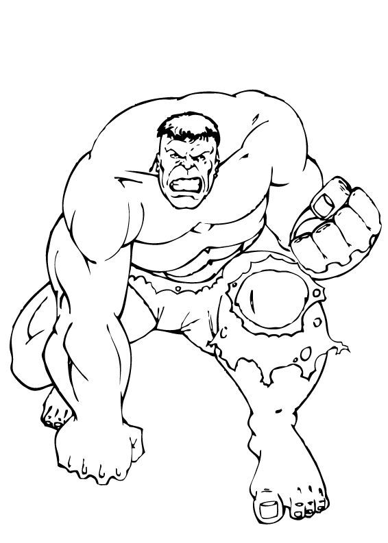 Incrível Hulk – Desenhos para Colorir - Desenhos Para Colorir