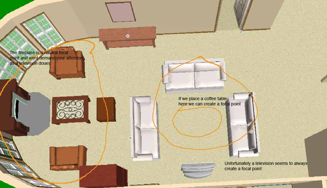 Spector furniture comfort zone what is your focal point for Focal point of a room