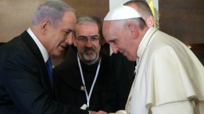 PM Israel Benyamin Netanyahu dan Paus Fransiskus bertemu di Jerusalem