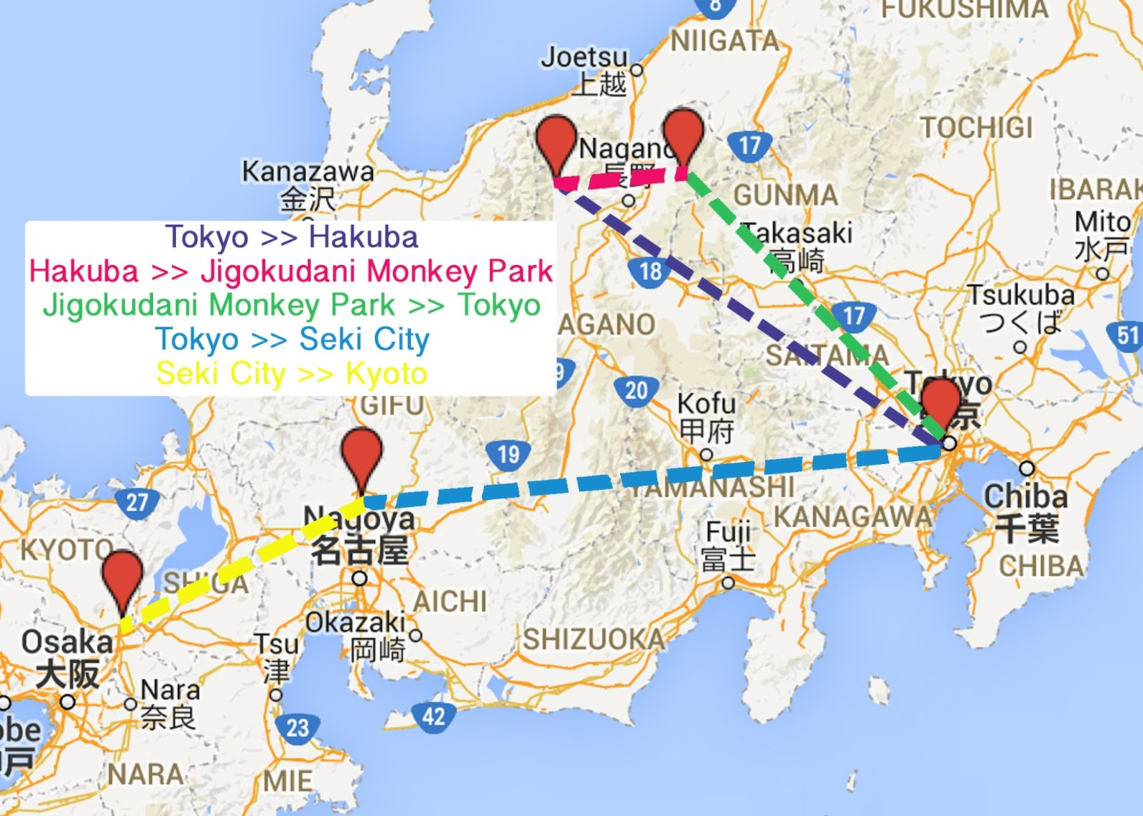 Mr Mrs O Holiday Trip To Mainland Japan Route And Travel Info - Japan jetstar map