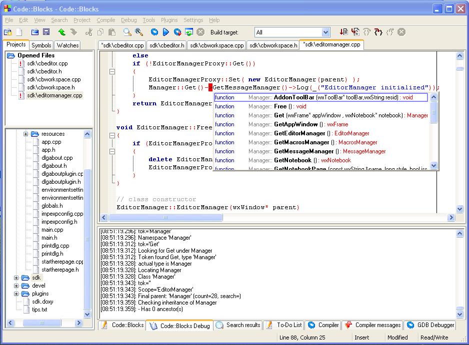 Code Blocks - App Sam Mac