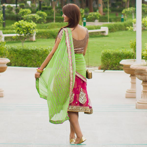 DIY: Re-using Old Lehenga As A Mehendi Outfit!