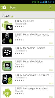 Cara download BBM Android - langkah 4