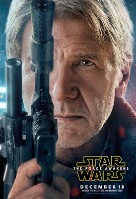 Star Wars The Force Awakens Character Movie Poster Set 1 - Harrison Ford as Han Solo