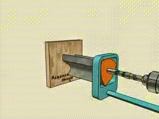 This is how a drill creates square holes