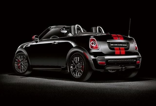 Rear 3/4 view of 2013 Mini John Cooper Works Roadster