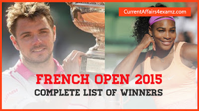 french open 2015 winners list