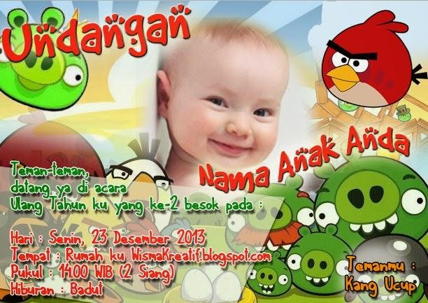 Download Template Undangan Ulang Tahun Untuk Anak.