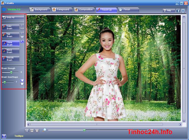 Hướng dẫn ghép ảnh đơn giản bằng FotoMix