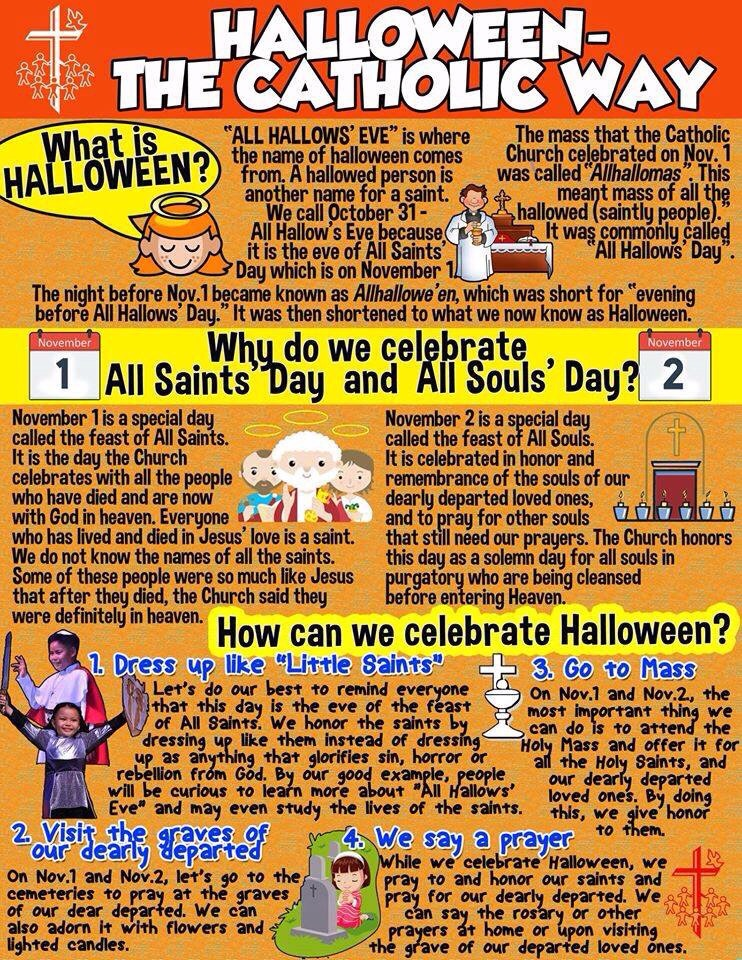 but it is a good guideline on how should i raise a child as catholic and at the same time to enjoy the fun of celebrating halloween on the all saints day