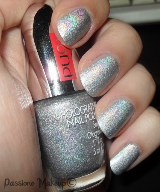 pupa smalto olografico argento