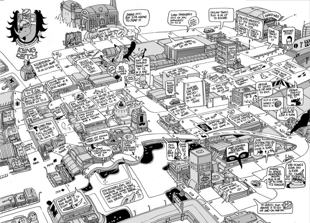 how to draw a detailed city