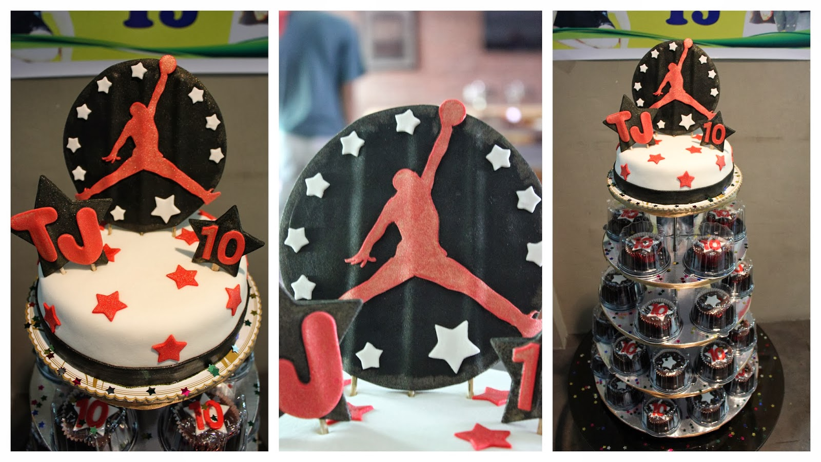 Ceciles Cakes and Pastries Michael Jordan Cake and Cupcakes
