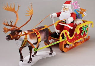 Santa Claus riding a sleigh ~ Art of Paper