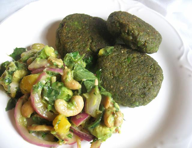 garden pea falafel