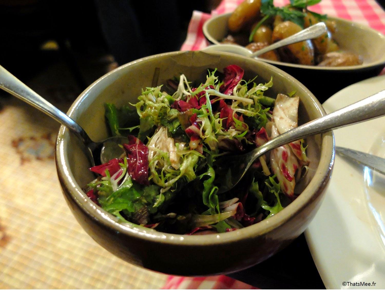 Restaurant viande carnivore Les Crocs de L'ogre Paris 7 Ecole militaire boucherie viandards thatsmee.fr bonnes adresses, salade