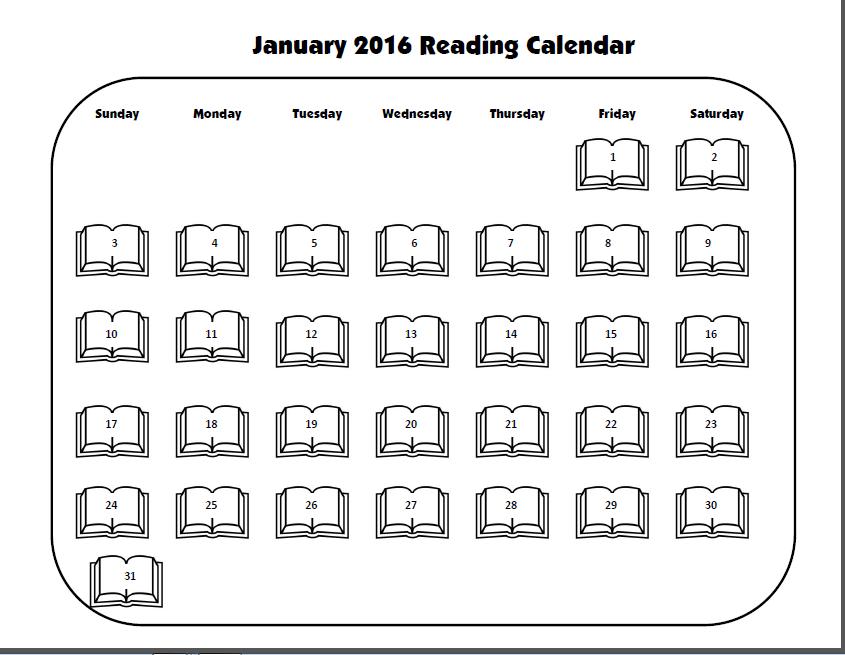 Monthly Reading Calendar : Monthly reading calendars deped lp s