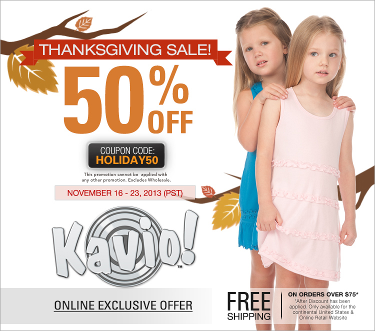Kavio! Thanksgiving Sale!